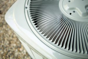 top corner view of an outside air conditioning unit